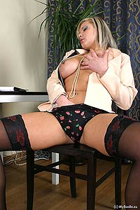 Great boob blonde secretary.